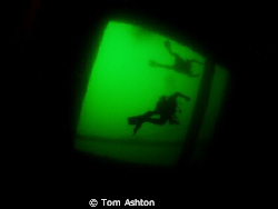 View up from inside the Hispania wreck by Tom Ashton 